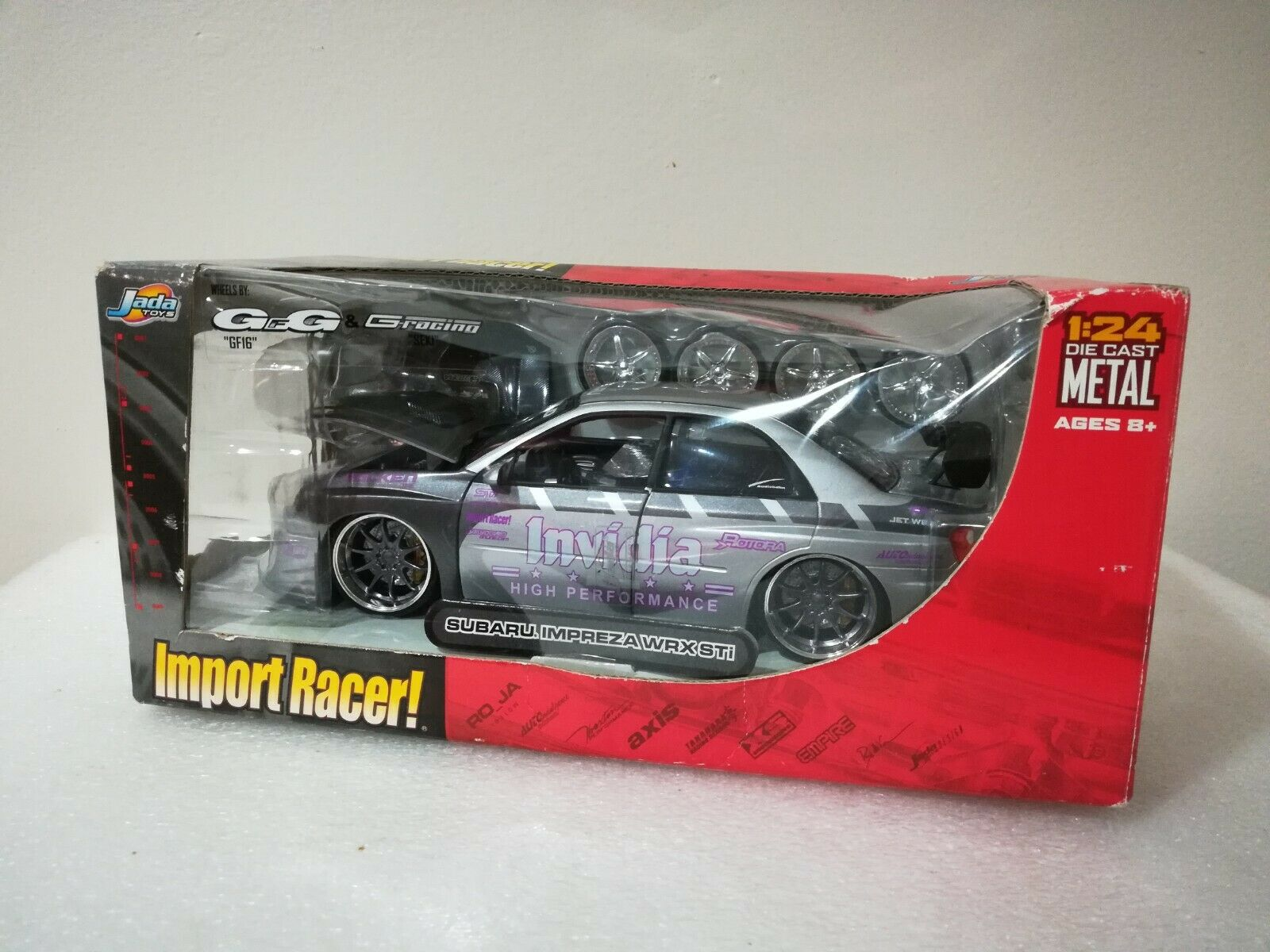 JADA Die Cast metal 1 24 IMPORT RACER SUBARU IMPREZA WRX STI Great Condition