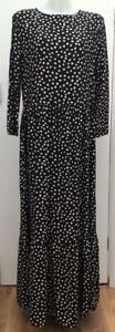 BNWT-New-Next-Black-Prairie-Polka-Dot-Frill-Tiered-Boho-Long-Maxi-Dress-Size-12T