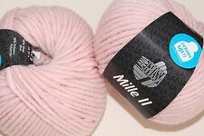 Wolltruhe!  Lana Grossa Mille II  Fb. 83  rose  50g