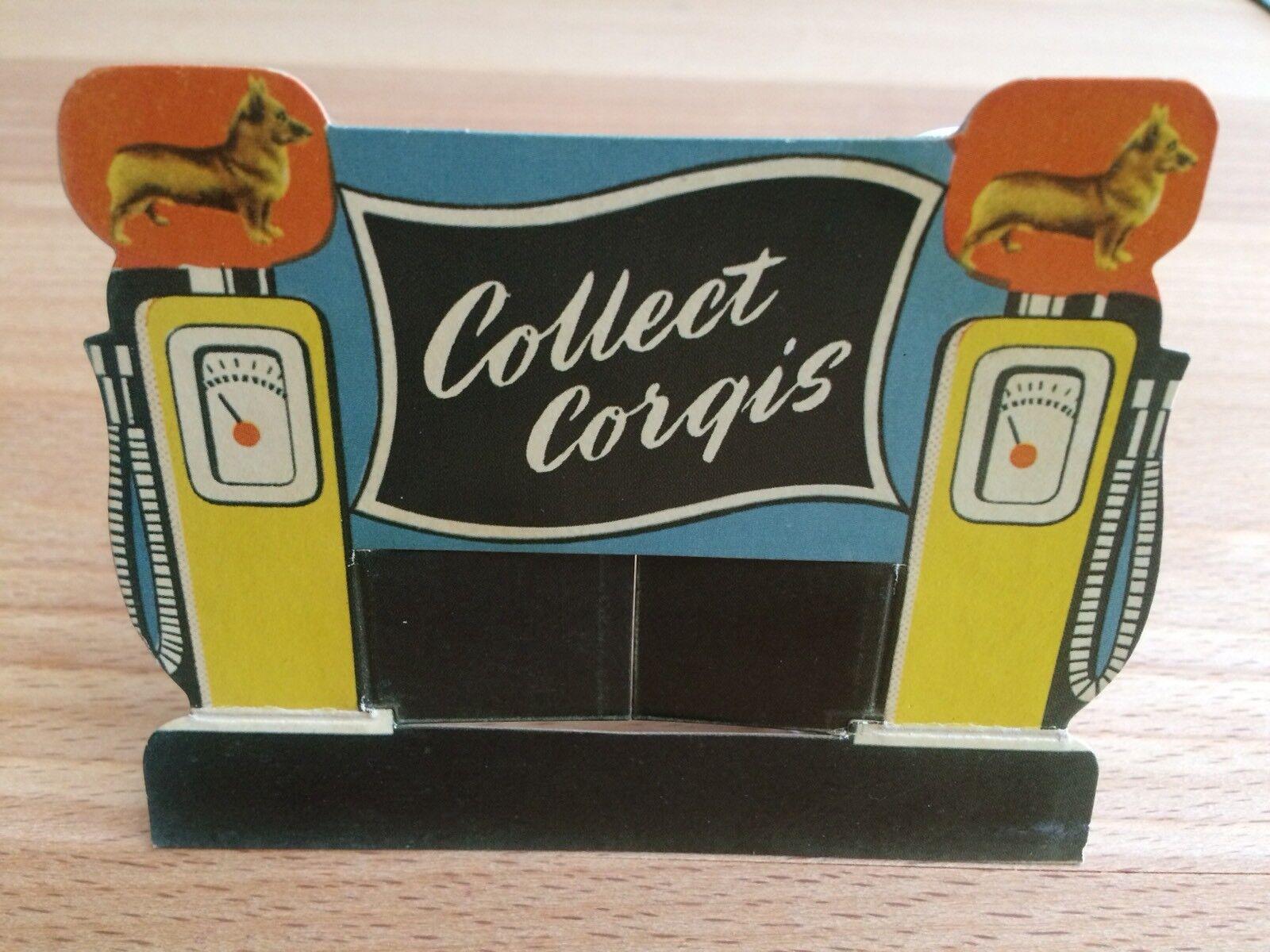 Corgi TOYS PETROL PUMP Card Display-Gas Station-MINT
