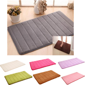 m moire mousse souple salle de bains chambre tapis de bain sol antiderapant ebay. Black Bedroom Furniture Sets. Home Design Ideas