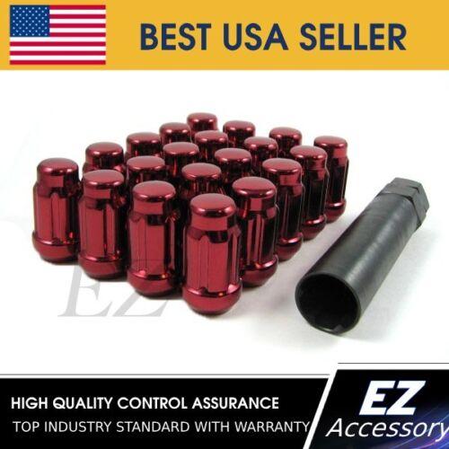"16 Pc Set Spline Tuner Lug Nuts1//2/""RedFord Mustang Explorer"