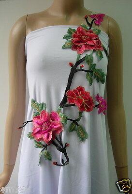 VT314 Colorful Tier Floral Tree Trimming Venise Applique Sewing/Trim/Diy