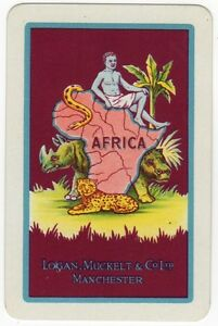 Playing-Cards-Single-Card-Old-LOGAN-MUCKELT-Shipping-Advertising-LEOPARD-RHINO-2