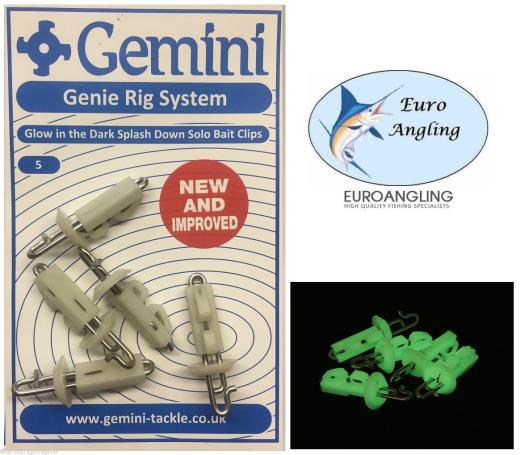 Pack of 5 Gemini NEW Glow in the Dark Luminous Splash Down 150g Lead Weights