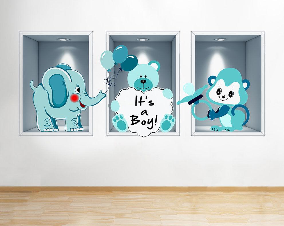 G592 Ragazzi scuola materna del bambino Cute An adesivo da parete camera bambini
