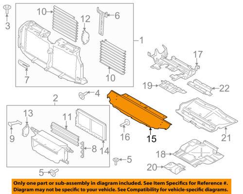 FORD OEM 16-17 F-150 Splash Shields-Lower Deflector FL3Z8327E