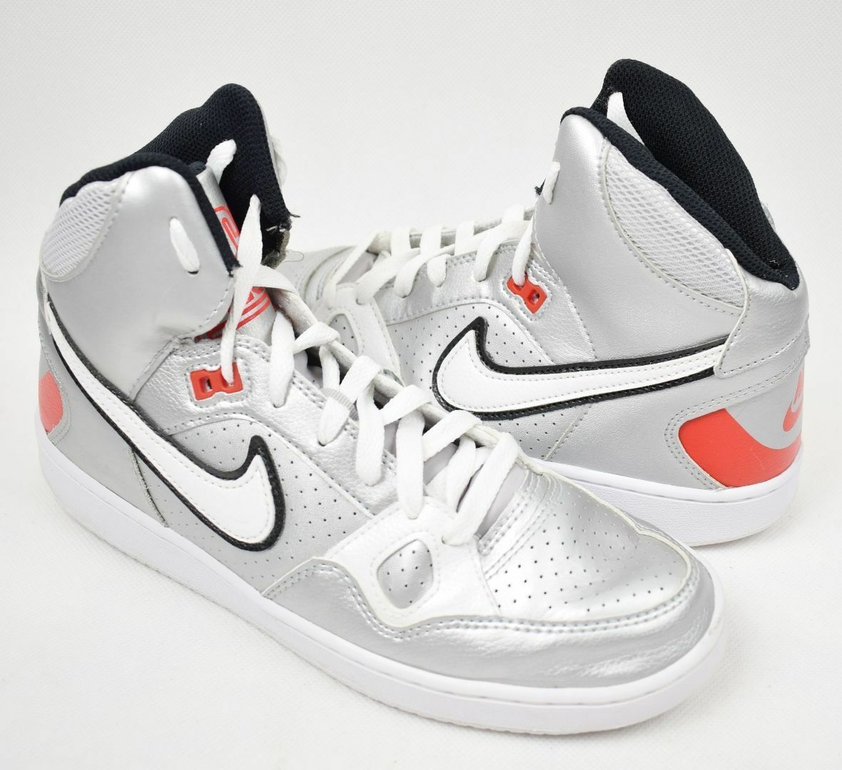 Nike Son of Force Mid Silver Trainers Girls Womens UK Size 5.5 EU 39
