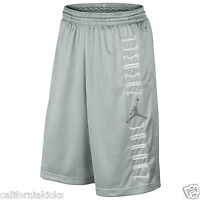 NIKE Air Jordan Retro 11 XI Basketball Shorts sz M Medium Grey Mist 7210 Space