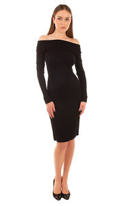 RRP-1350-NARCISO-RODRIGUEZ-Pencil-Dress-Size-38-XS-Off-Shoulder-Made-in-Italy