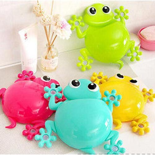 Wall Mounted Holder Toothbrush Razor Frog Shaped Bathroom Storage Accessories AL