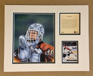 Philadelphia Flyers TOMMY SODERSTROM 1994 Hockey 11x14 MATTED Kelly Russell