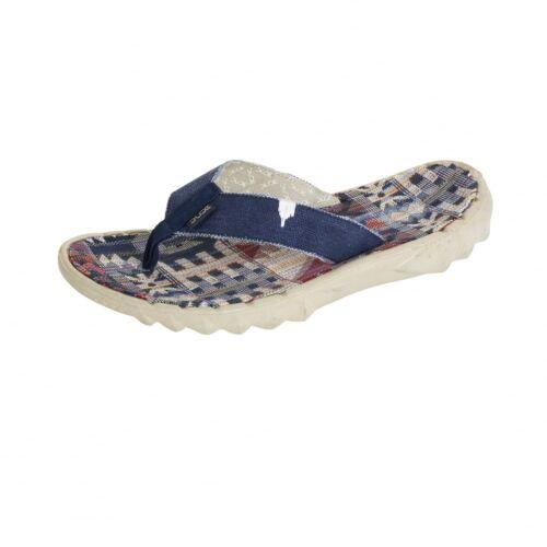 Hey Dude Shoes Mens /& Womens Sava Incas Red Canvas Flip Flops