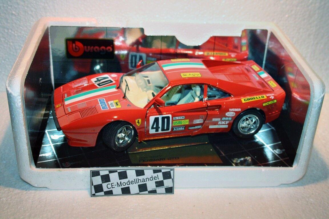 FERRARI GTO   40  1984  Bburago  1 18  Rouge