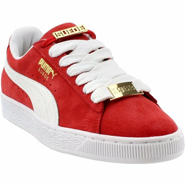 new products d0860 c3d30 PUMA Classic Bboy Fabulous Mens Red Suede Lace up SNEAKERS Shoes 10