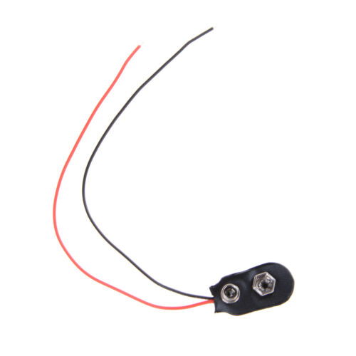 10pcs Black Red Cable Connection 9V Battery Clips Connector Buckle 15cm DurableJ