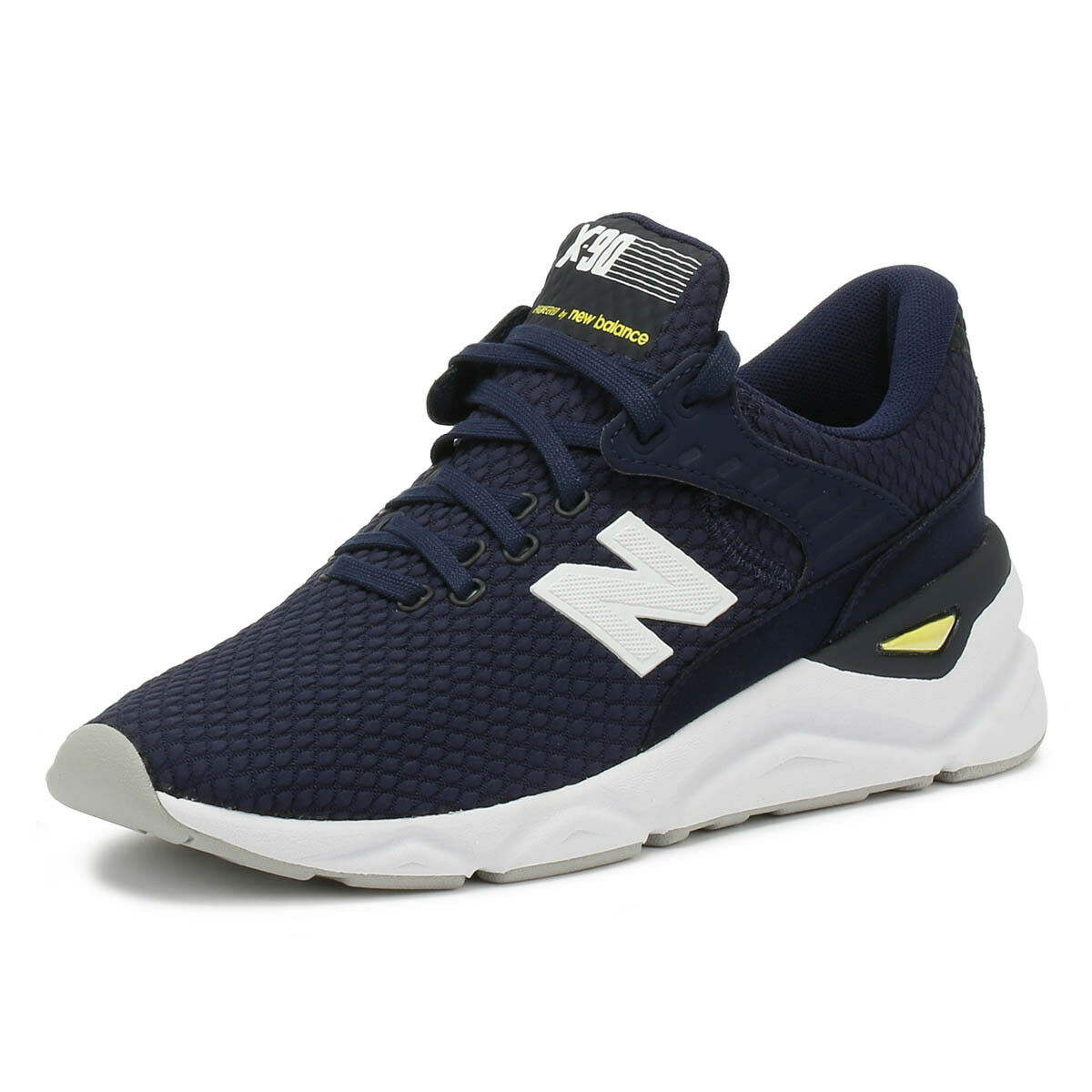 New Balance Mens Trainers X90 Navy   White Casual Lace Up Sport Running shoes