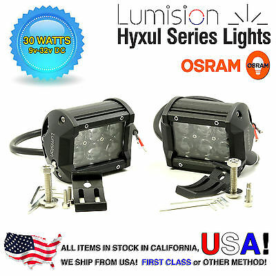 "Lumision CREE 36W 7/"" PAIR Spot High Intensity LED Light Bar Truck RV SUV boat"