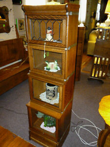 Antique-Oak-Bookcase-1-2-size-stacking-Barrister-Lawyers-Globe-Macey-restored-2