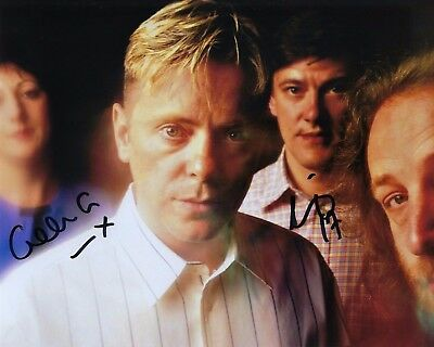 Signed Autograph 8x10 Photo Ad5 Coa Gfa Stephen Morris & Gillian New Order