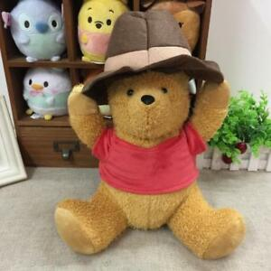 Disney-Christopher-Robin-Plush-Doll-Winnie-The-Pooh-with-Hat-35cm-Japan
