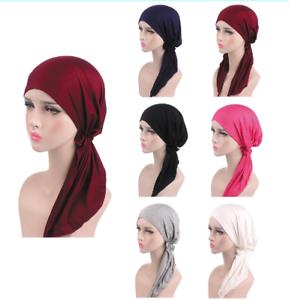Muslim-Women-Hijab-Cancer-Hat-Chemo-Beanie-Cap-Hair-Loss-Head-Scarf-Turban-Wraps
