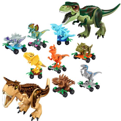 10 Unids Bloques de Construcción Parque Dinosaurio Juega Juguete Animal World
