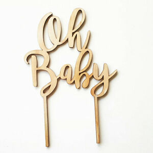 Wooden Laser Cut Cake Topper