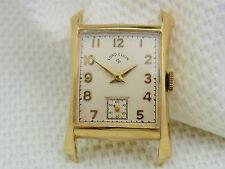 Bella vecchio orologio da polso LORD ELGIN 585/- Oro cal.670 circa 40/50er anni