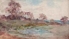 MARCUS ADAMS Watercolour Painting IMPRESSIONIST ENGLISH LANDSCAPE c1930