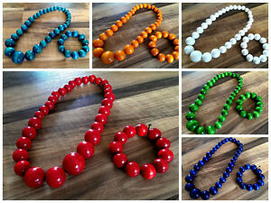 Chunky-Solid-Wooden-Beaded-Necklace-and-Bracelet-Set