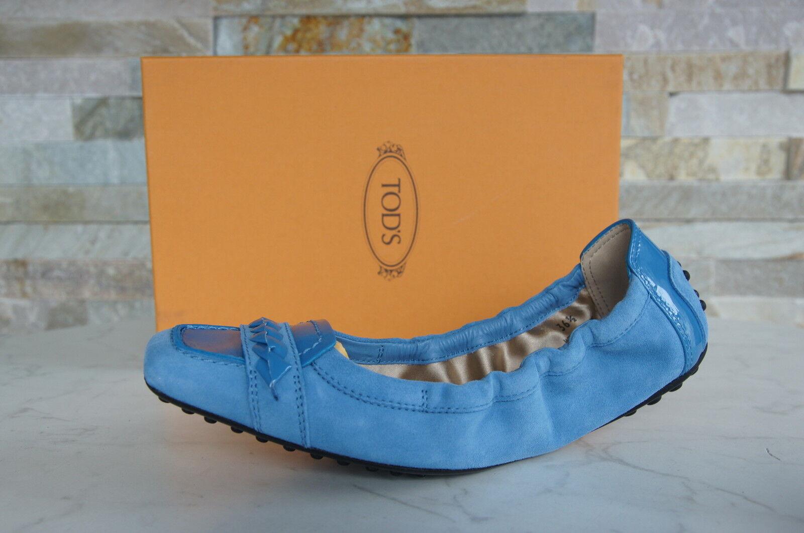 Tods Tods Tods Muerte´S Gr 36,5 Bailarinas Deslizador Zapatos Azul Nuevo Antiguo  con 60% de descuento