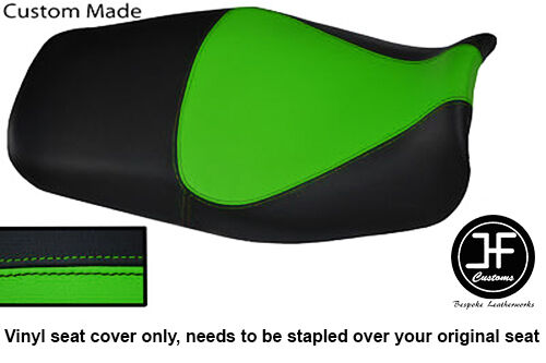 BLACK L GREEN VINYL CUSTOM FOR KAWASAKI ZZR600 E ZZR 600 E 94-05 SEAT COVER ONLY