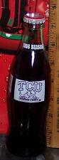 1998 TCU TEXAS CHRISTIAN UNIVERSITY HORNED FROGS  8OZ GLASS COCA  COLA   BOTTLE