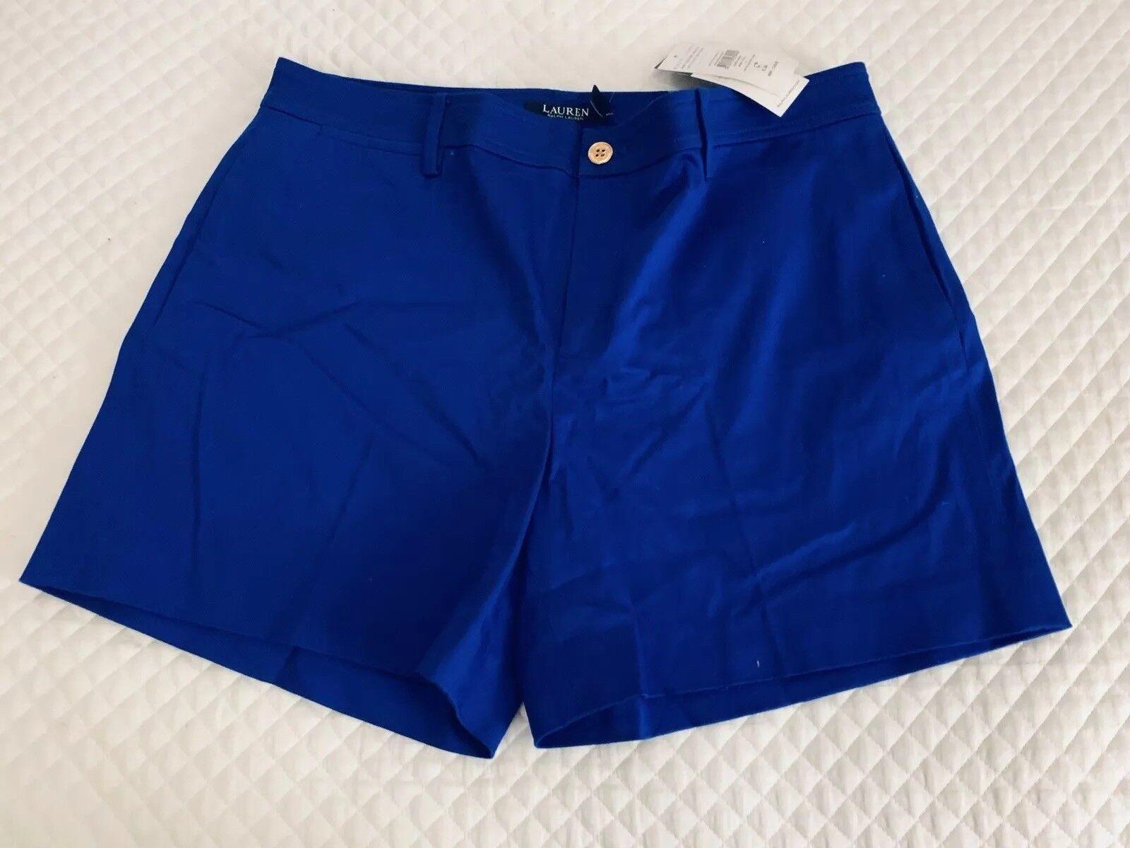 Ralph Lauren Woman Royal bluee Cotton Shorts Size US12 UK16 Bnwt