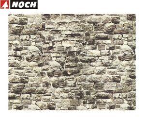 NOCH-H0-TT-57700-Mauerplatte-034-Granit-034-64-x-15-cm-1-m-35-32-NEU-OVP