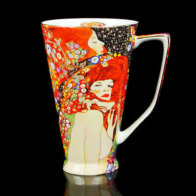 Excellent Bone China 500ML Big Cup Water Serpent II By Gustav Klimt Daily Use