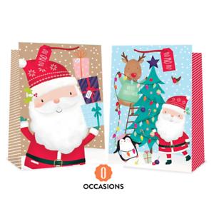 2 x Jumbo Sac Cadeau Set Cadeaux de Noël Extra Large Père Noël Pingouin Rudolph 2859