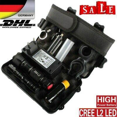 80000LM echte Polizei Taschenlampe CREE XML-L2 LED Militär /& Taktisch Fackel DHL