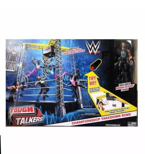 Ages 6+ WWE Tough Talkers Championnat Takedown RING PLAYSET
