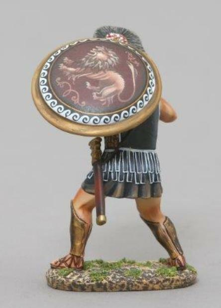THOMAS GUNN ANCIENT GREEKS & PERSIANS SPA021B THESPIAN WARRIOR LION SHIELD MIB