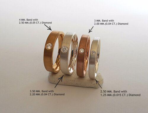 Solid 14K Gold 2.5mm 3mm 3.5mm 4mm Comfort Fit Men Women Wedding Band Ring