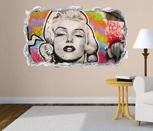 3d Wandtattoo Marilyn Monroe Graffiti Portrait Wand Aufkleber