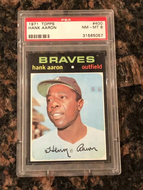 1971 Topps Hank Aaron Atlanta Braves 400 Baseball Card