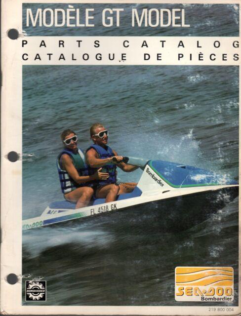 1991 Sea Doo Watercraft Gt Parts Manual P  N 219 800 004