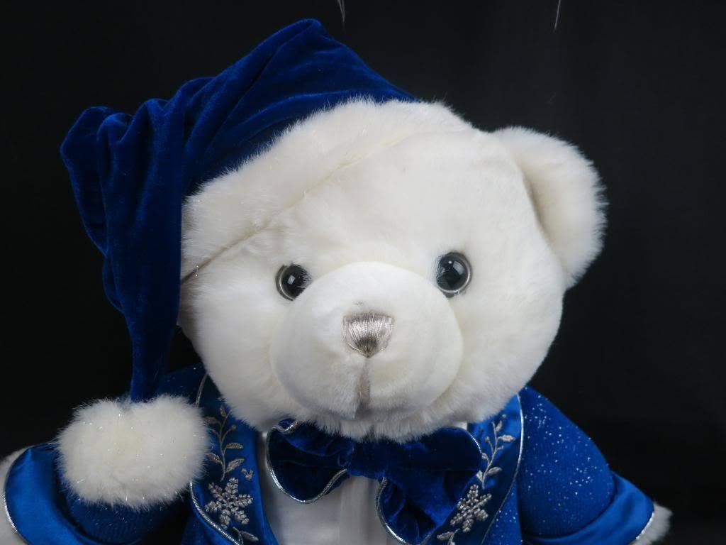 BIG NEW SNOWFLAKE TEDDY BEAR 2007 EARTHRITE  FIBER  NEW YEAR'S CHRISTMAS PLUSH