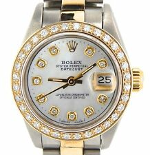 Rolex Datejust 69173 Steel & Custom Diamonds Automatic Ladies Watch