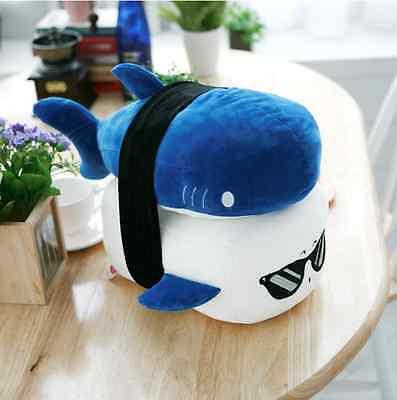 "Cotton Food SUSHI PILLOW Cushion shark Toy Doll Interior 6""(15cm) Free Ship"