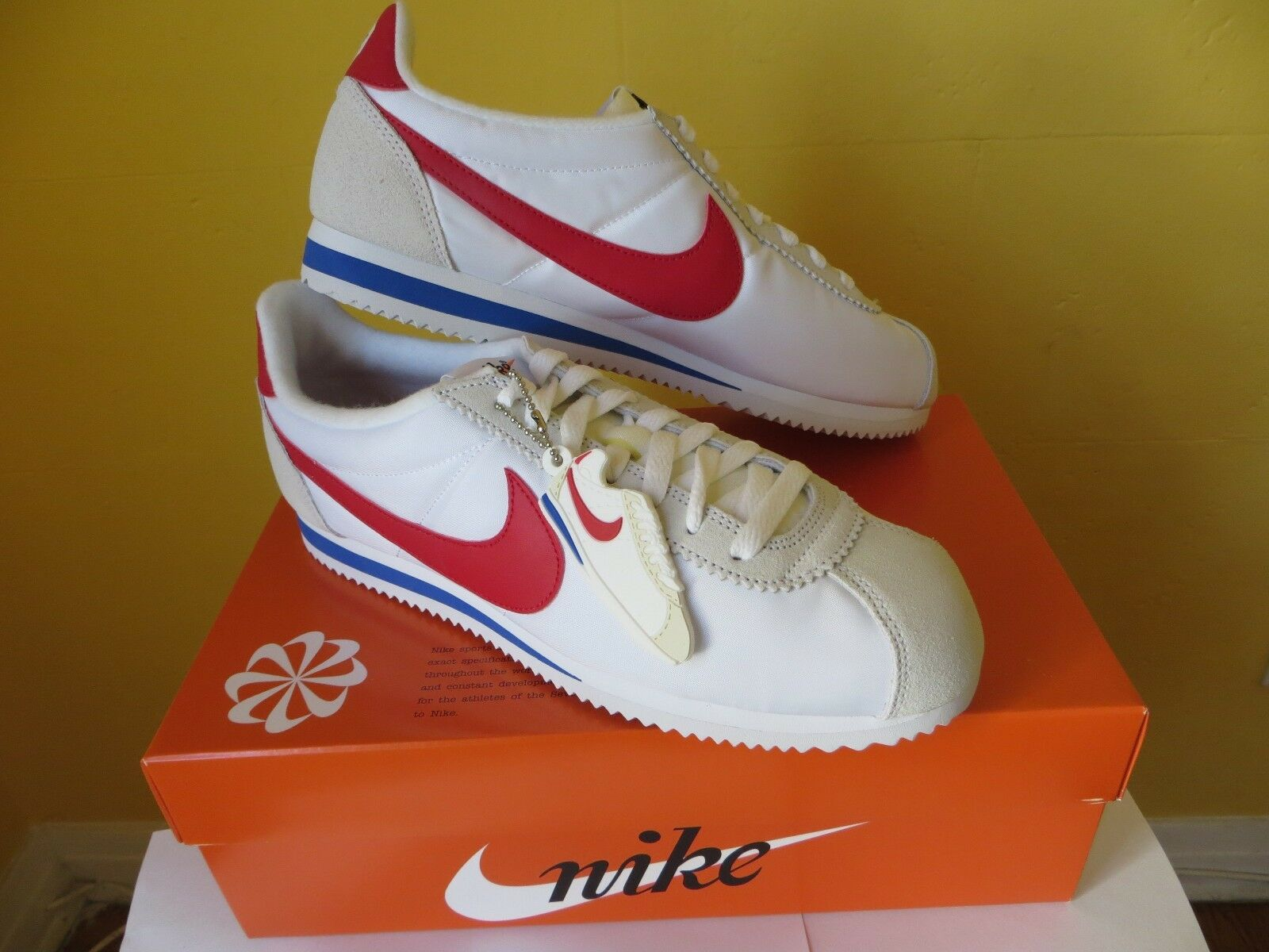 Nike Classic Cortez Nylon Premium QS SZ 9.5 shoes NIB with bluee Nike Bag