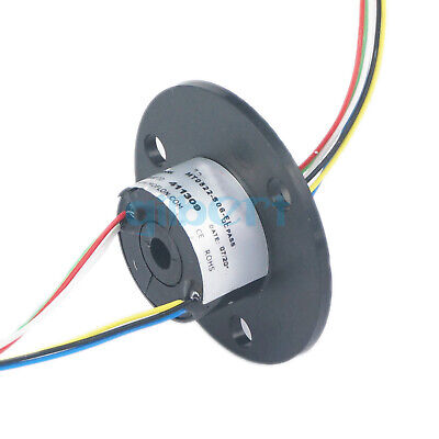 2-12 Wires 5-40A Circuits 250Rpm Capsule Slip Ring 600V For Monitor Robotic